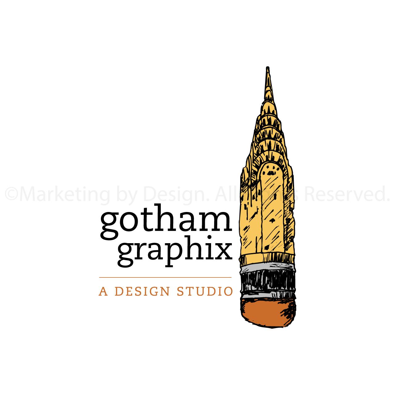 Marketing by Design | Gotham Graphix Logo