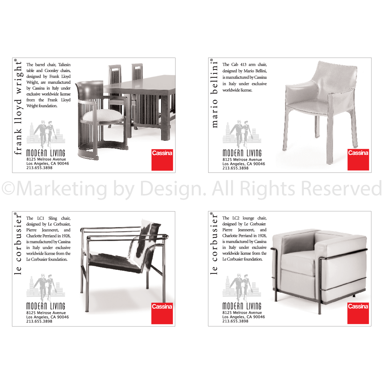 Marketing by Design | Portfolio: Modern Living Ads