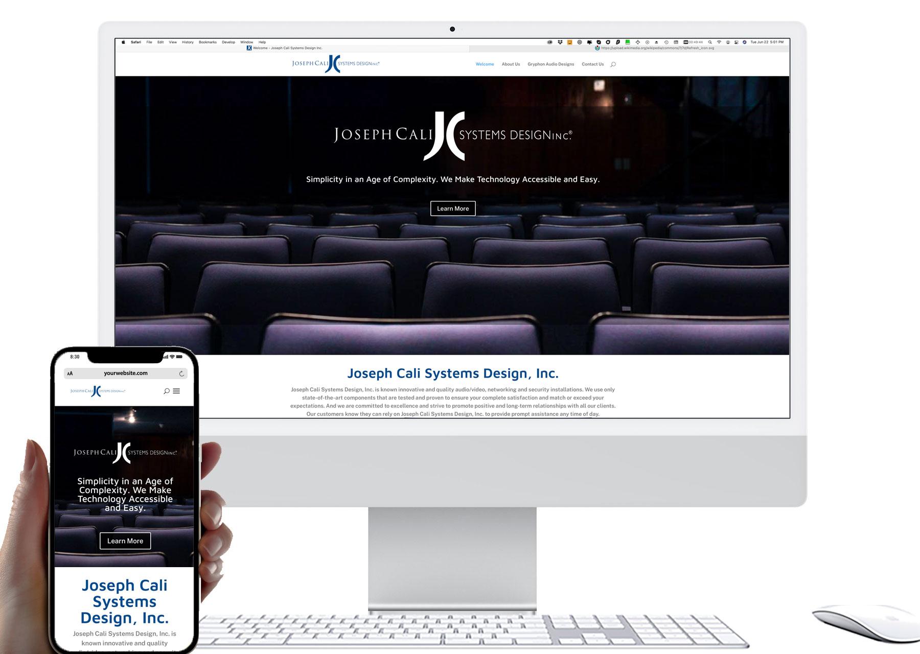 Marketing by Design | Portfolio: Joseph Cali Design Systems, Inc. Website