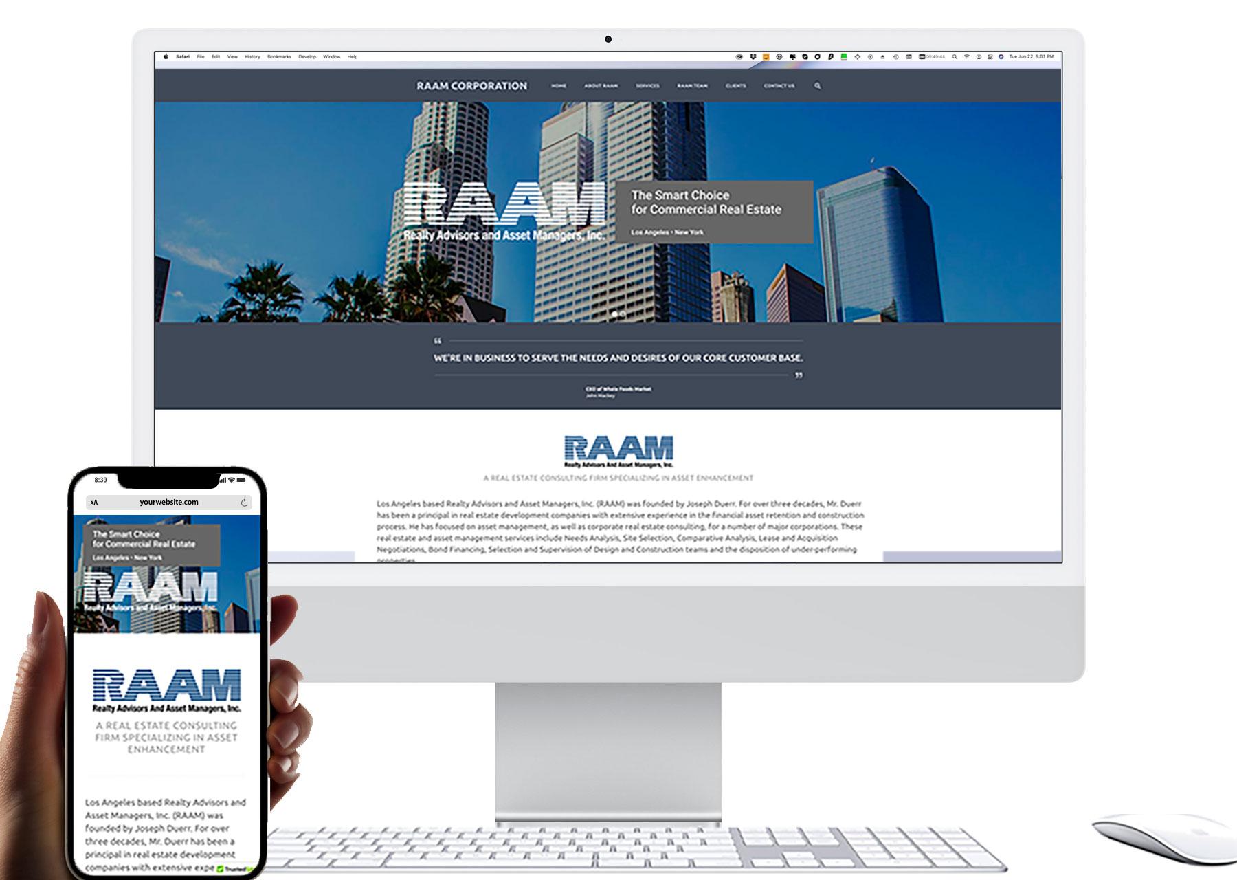 Marketing by Design | Portfolio: RAAM Corporation Website