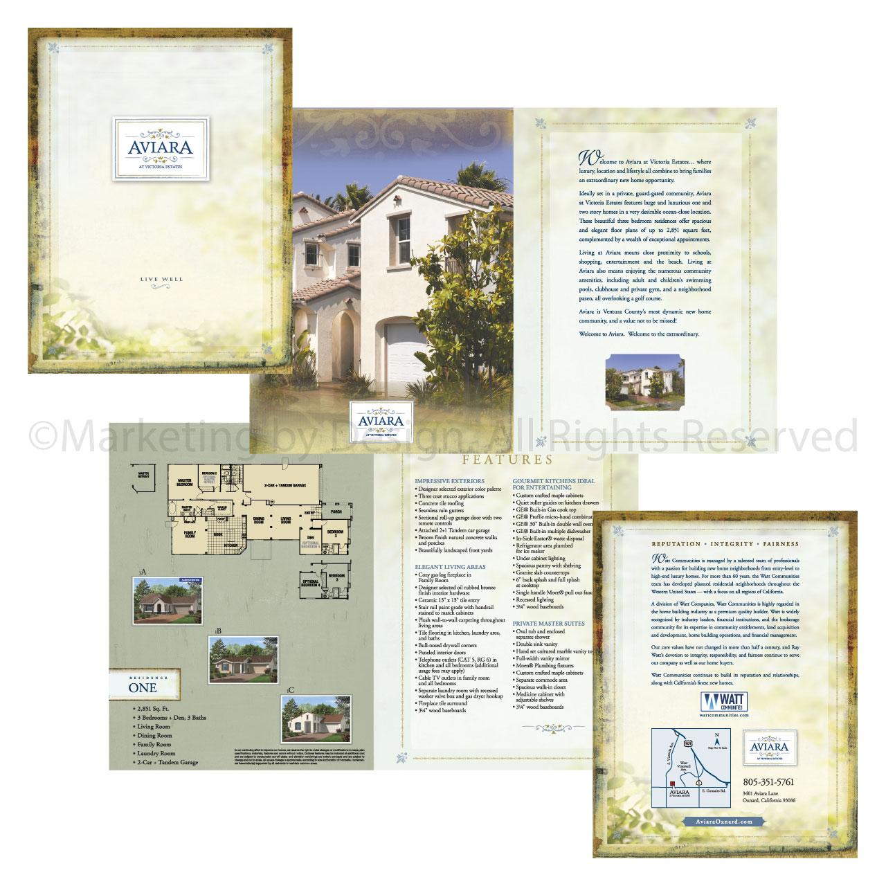 Marketing by Design   Portfolio: Aviara by Watt Communities Brochure