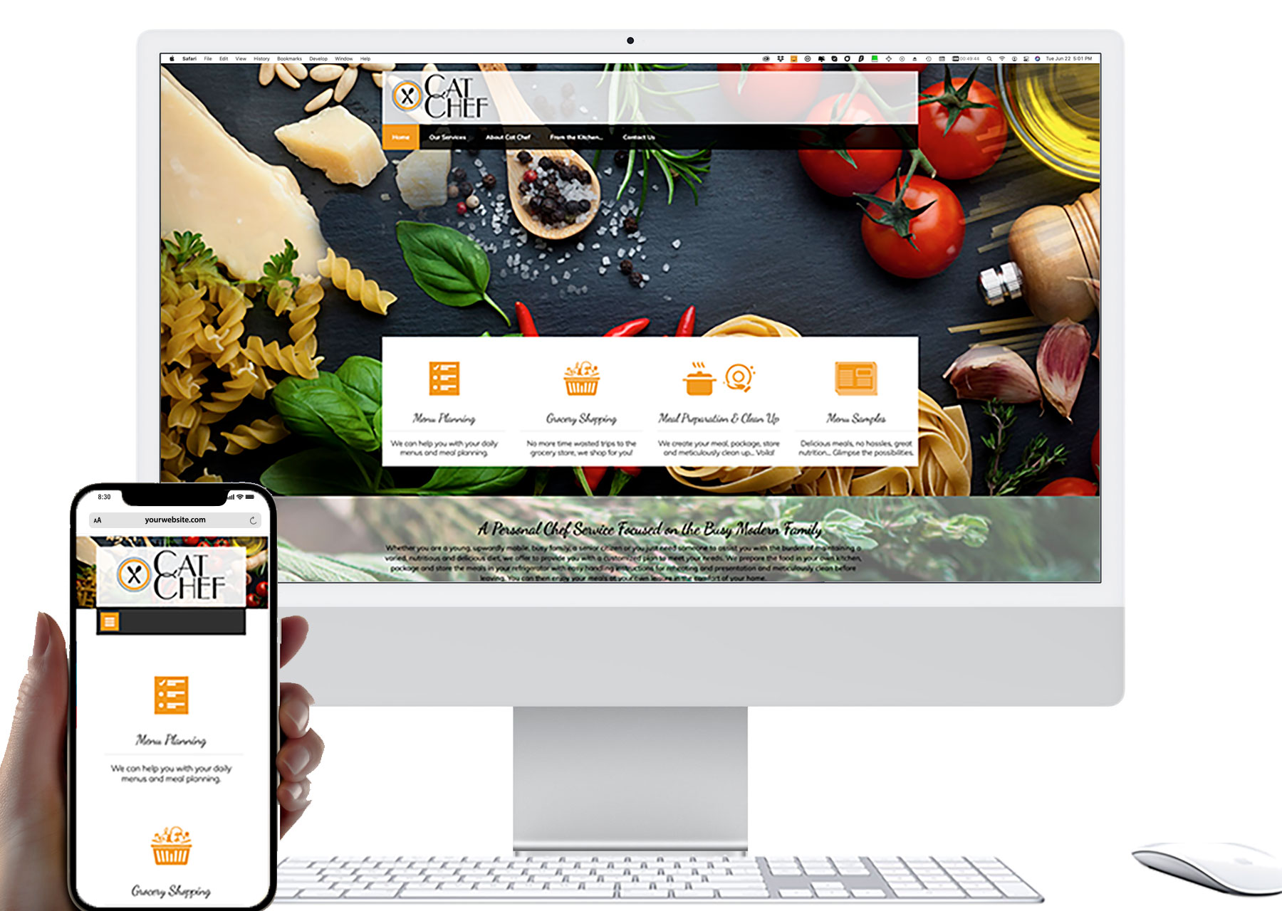 Marketing by Design   Portfolio: Cat-Chef Website
