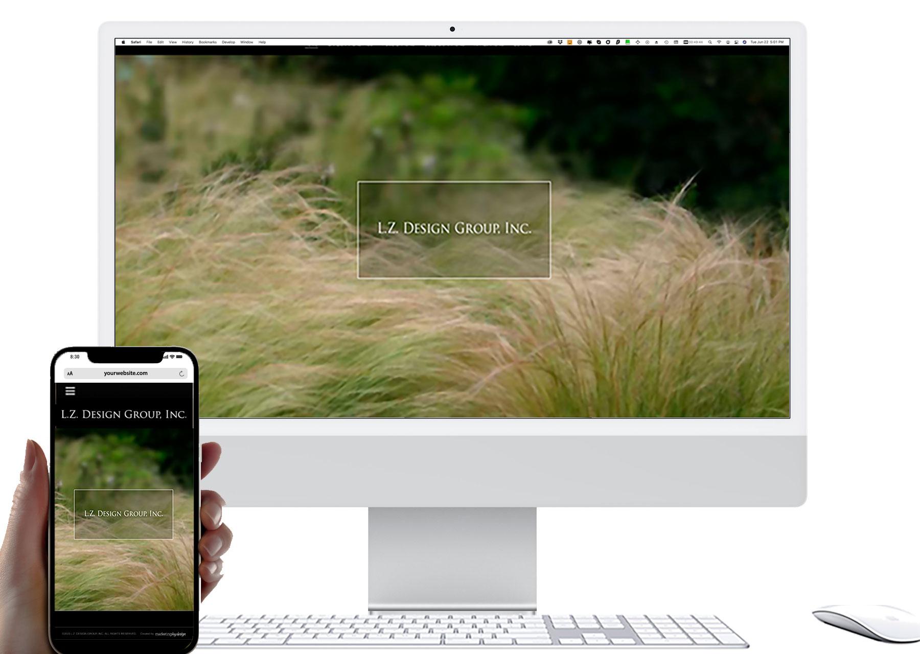 Marketing by Design   Portfolio: L.Z. Design Group Website