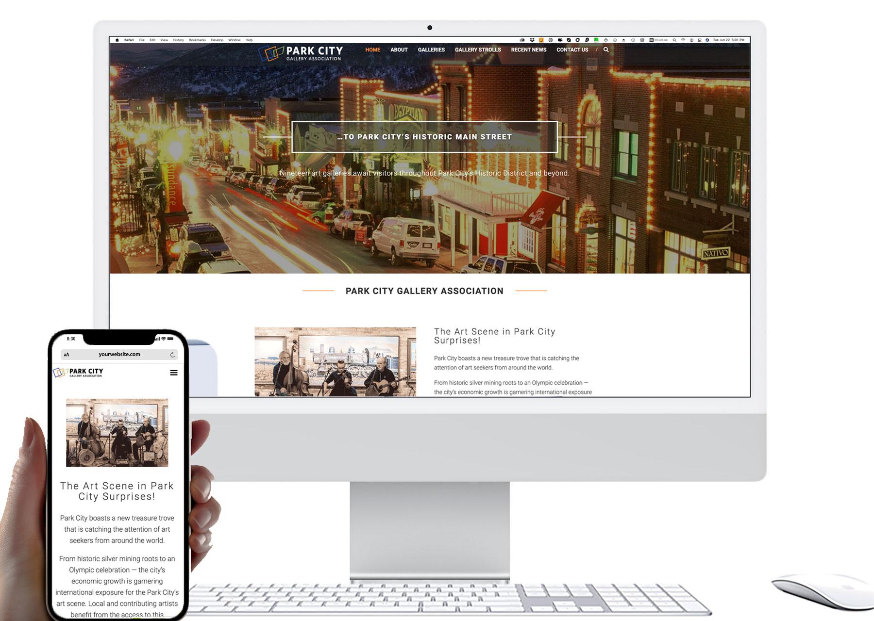 Marketing by Design | Park City Gallery Association Website