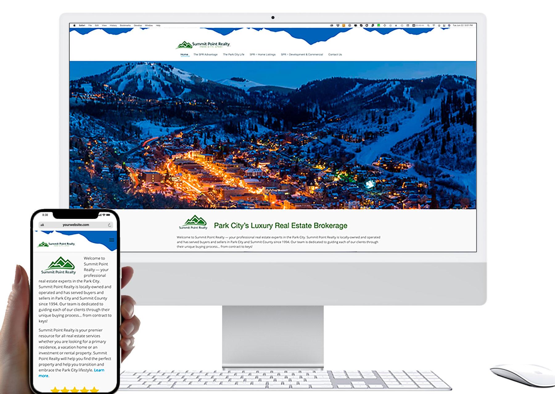 Marketing by Design | Portfolio: Summit Point Realty Website