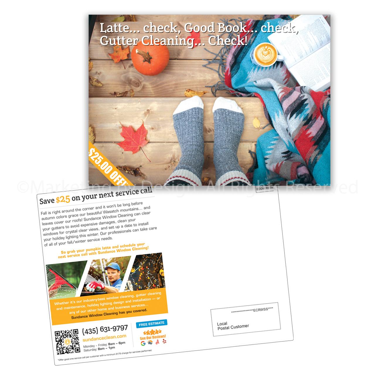 Marketing by Design | Portfolio: Sundance Window Cleaning Postcard